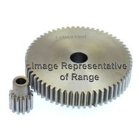 S/S Spur Gear Mod 1.5 15T, With Hub