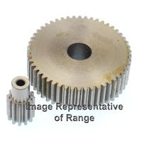 Steel Spur Gear Mod 1.5 53T, With Hub