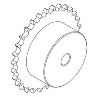 Asa25-1 13T Steel Sprocket