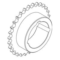 16B-1 38T Steel Sprocket For 3020 T/L Bush